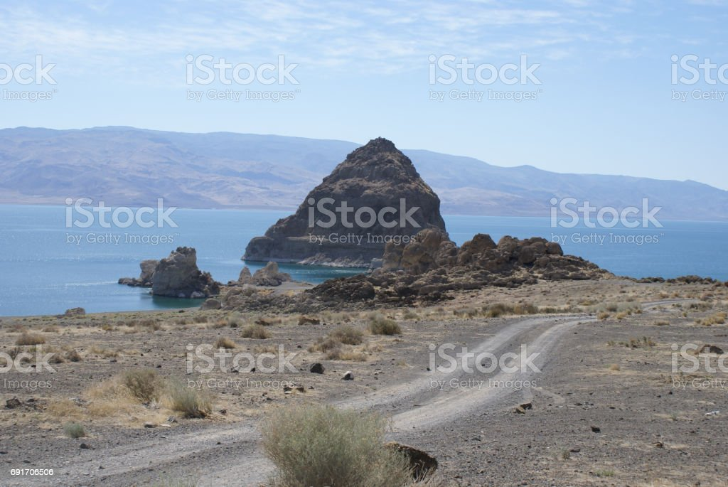 Pyramid Lake Area - Summer stock photo