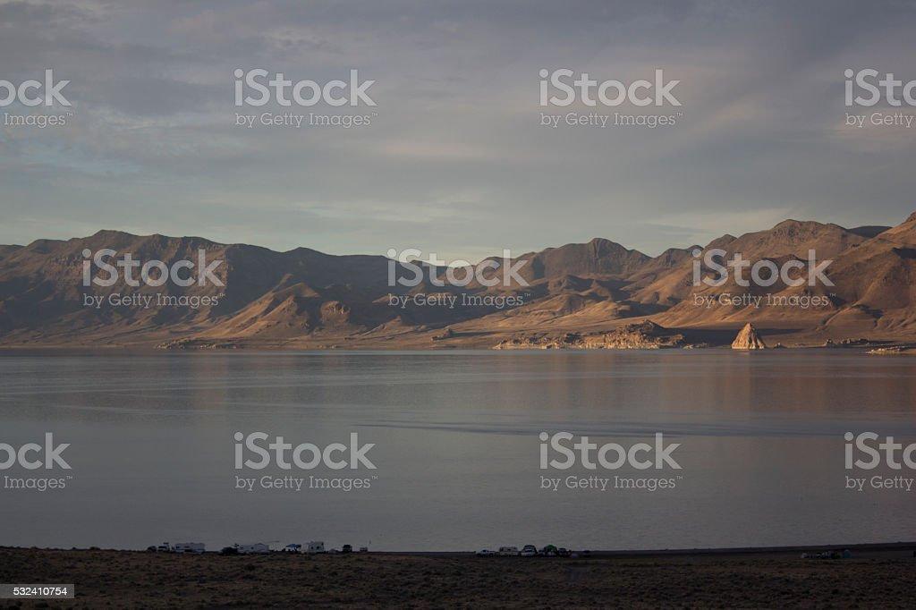 Pyramid Lake Nevada stock photo