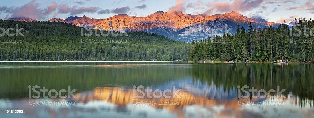 Pyramid Lake Panorama stock photo