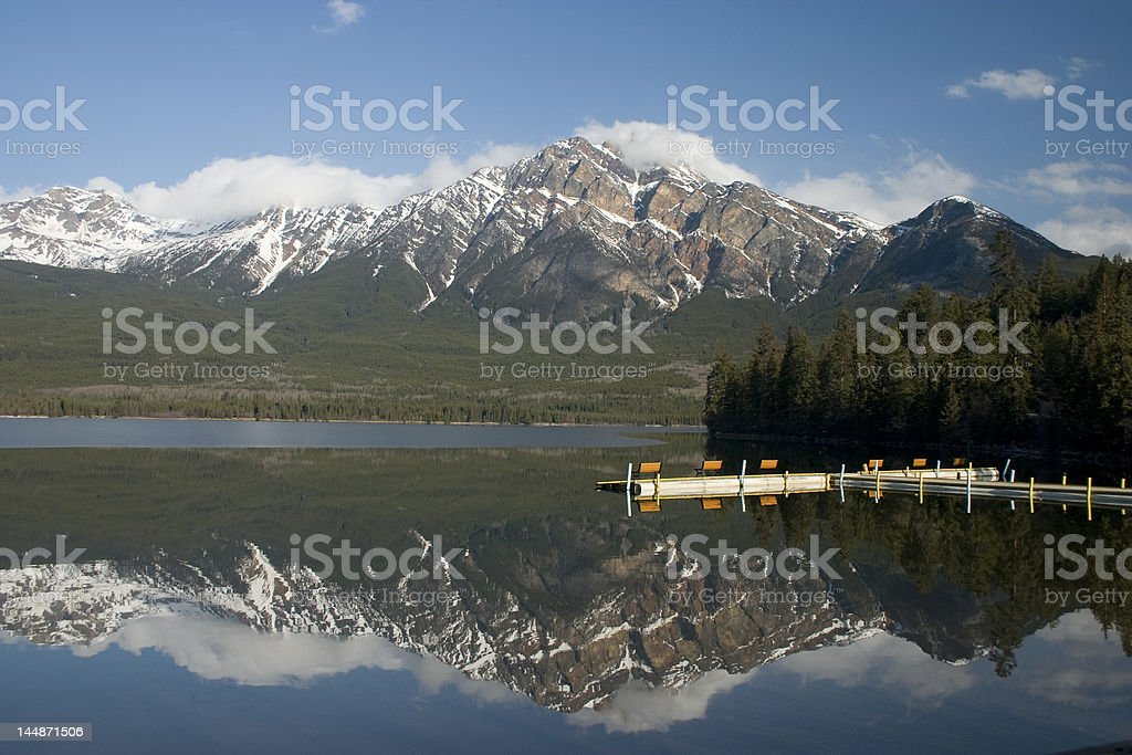 Pyramid Lake. stock photo