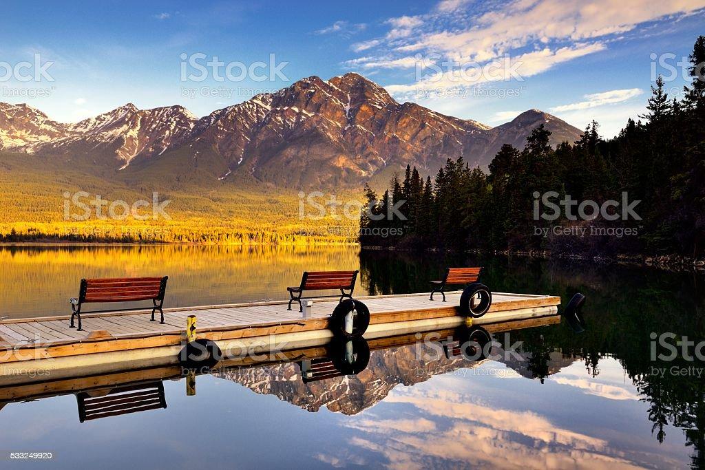 Pyramid Lake stock photo