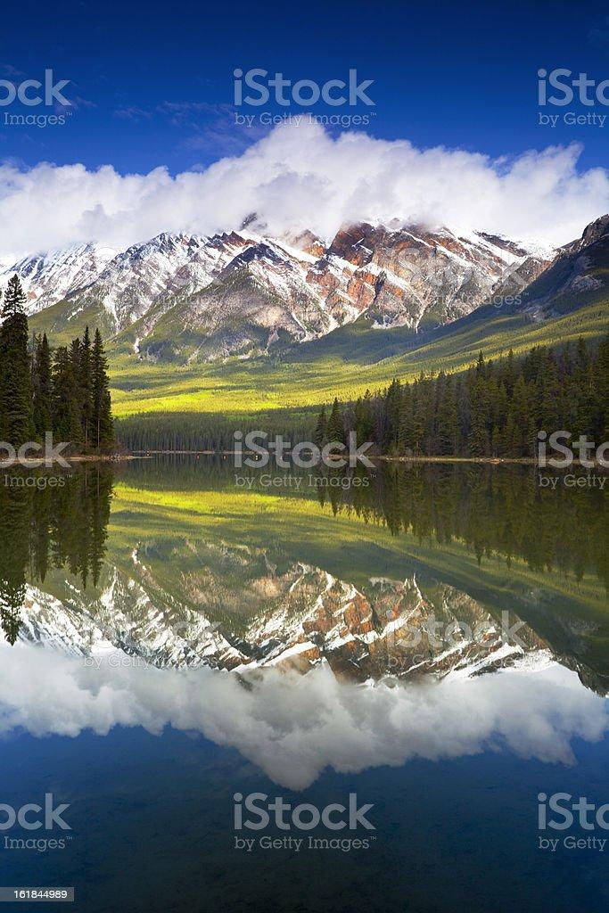 Pyramid Lake Reflection stock photo