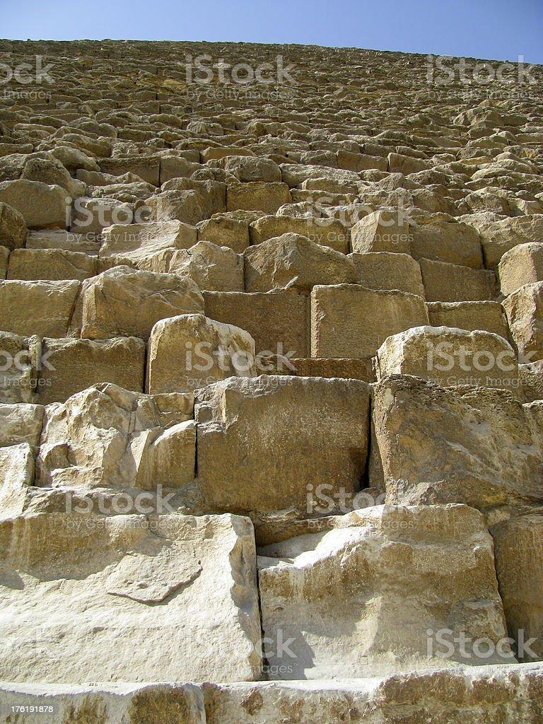 pyramid looking up royalty-free stock photo