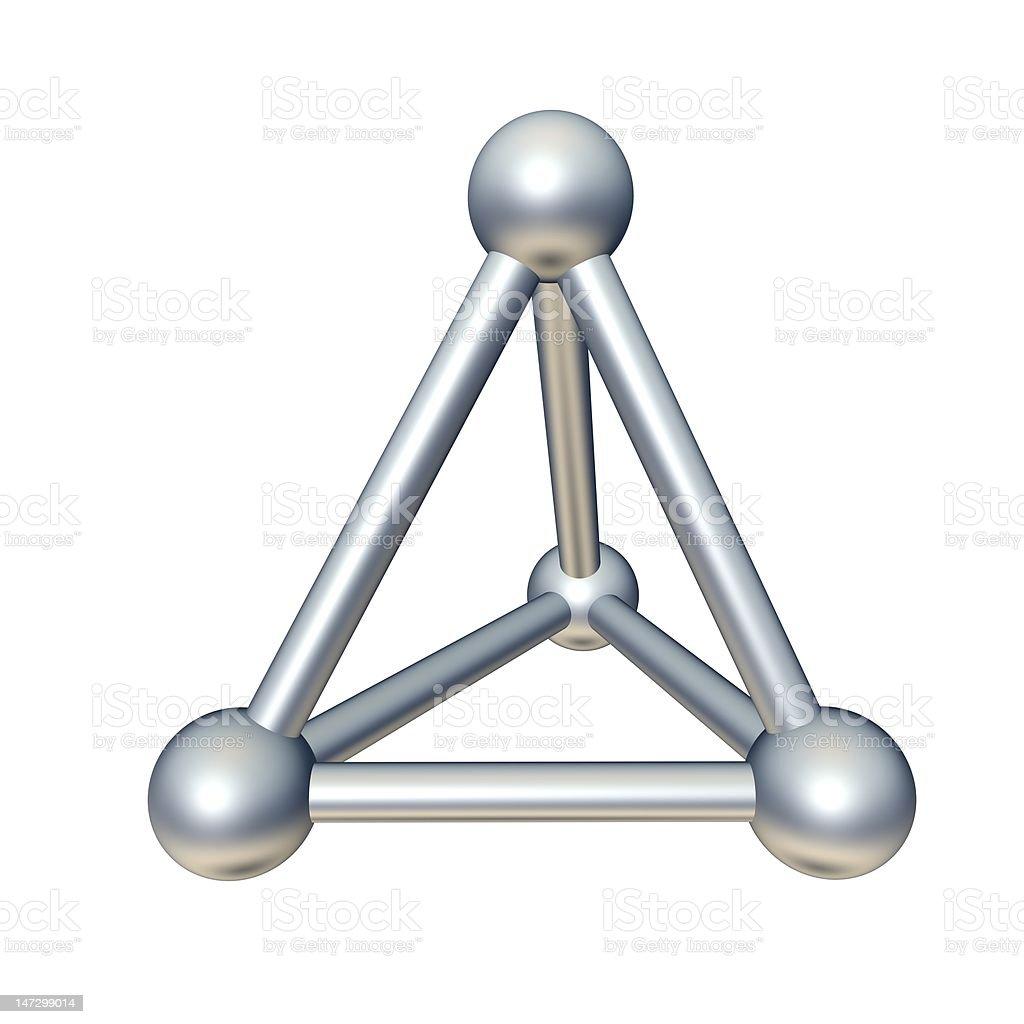 Pyramid model royalty-free stock photo