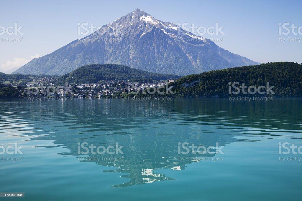 Pyramid Mount Niesen stock photo