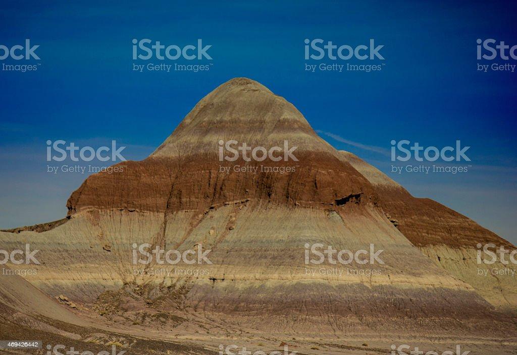 Pyramid Mountain Painted Desert stock photo