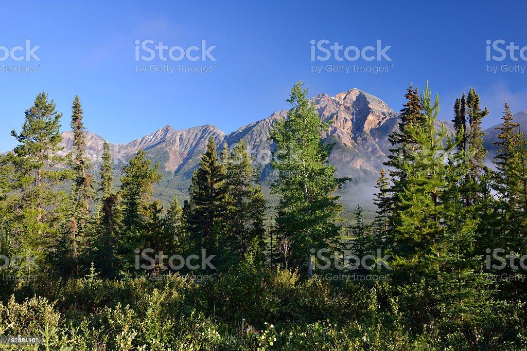 Pyramid Mountain stock photo