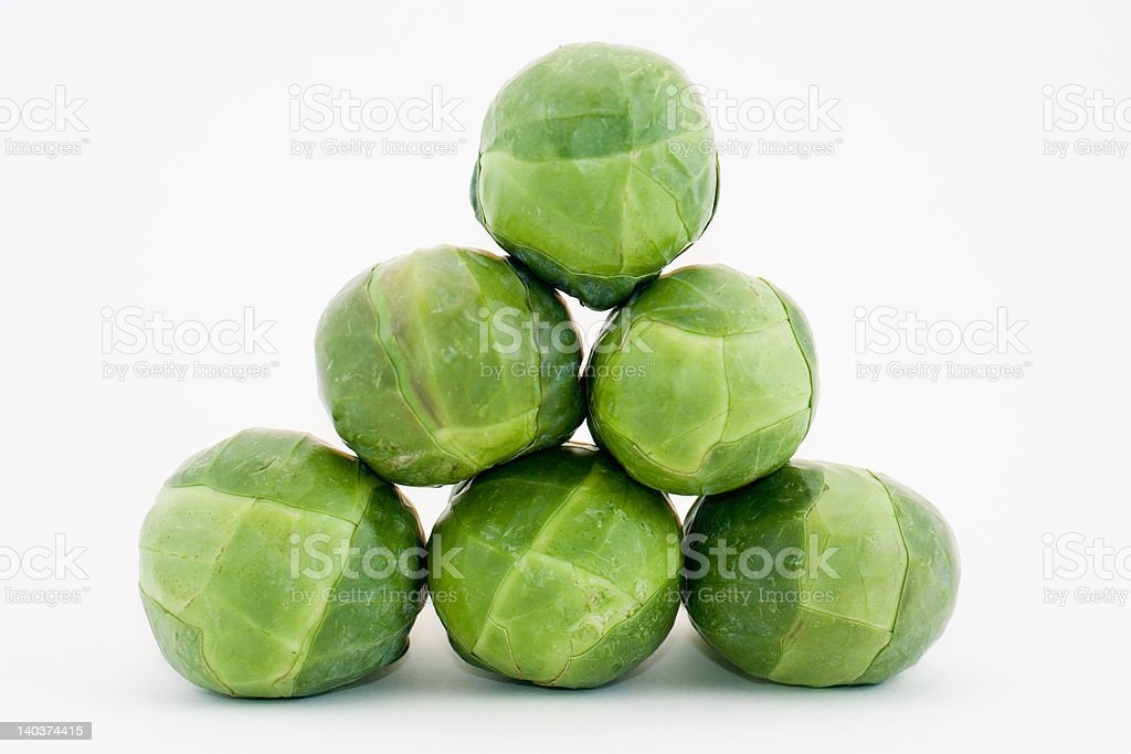 pyramid of brussel sprouts royalty-free stock photo