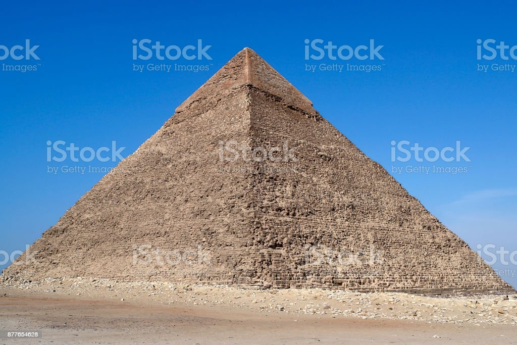 Pyramid of Cheops - Cairo, Egypt stock photo