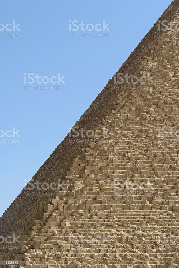 Pyramid of Cheops Detail stock photo