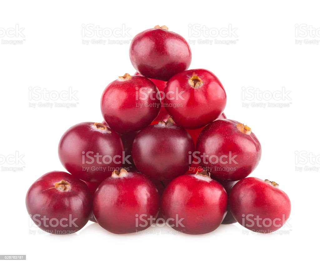 pyramid of cranberries stock photo