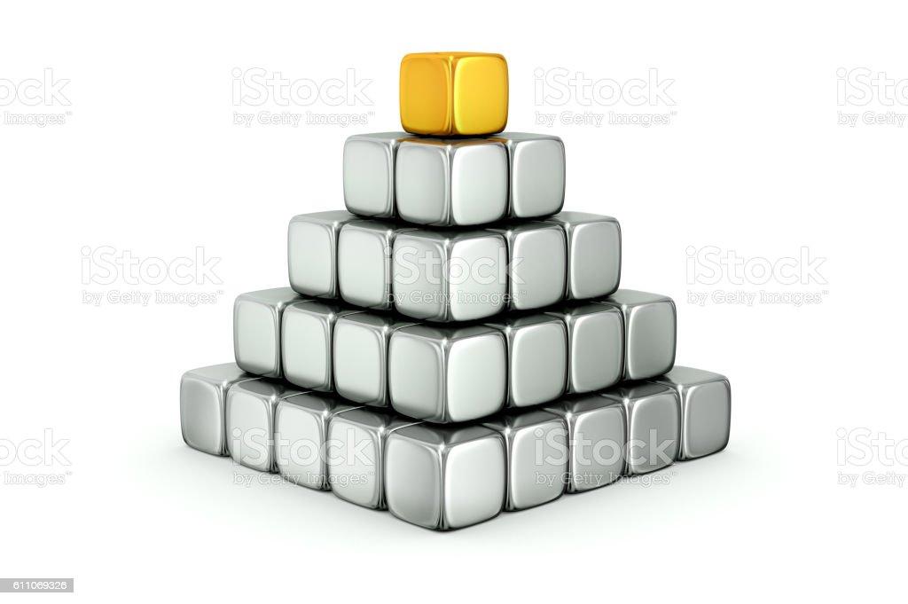 Pyramid of Cubes stock photo