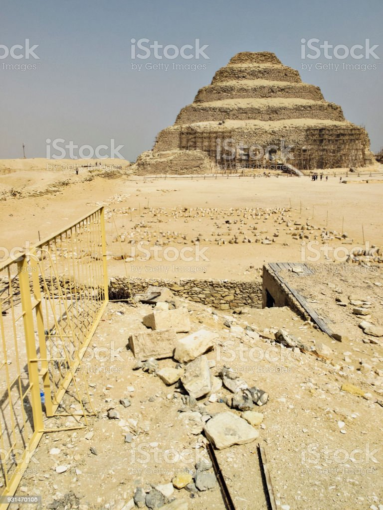Pyramid of Djoser at Saqqara in Memphis, Egypt stock photo