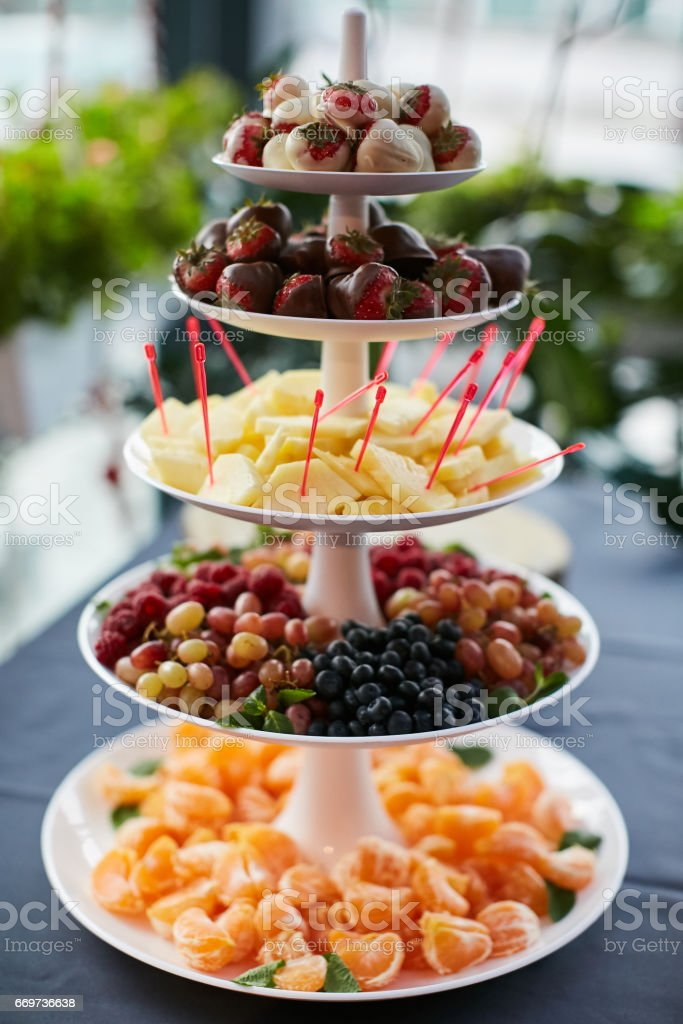 Pyramid Of Fresh Fruits stock photo