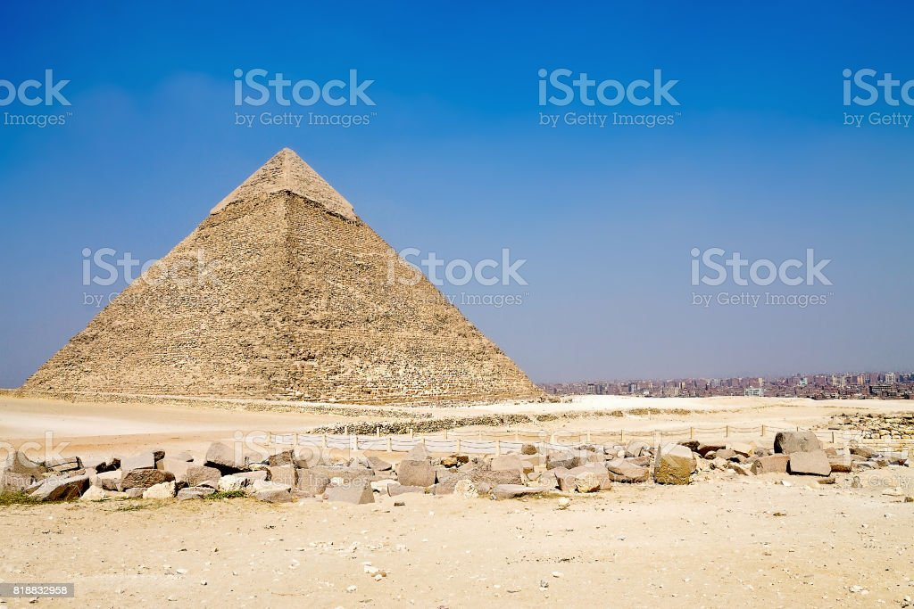 pyramid of Hefren stock photo