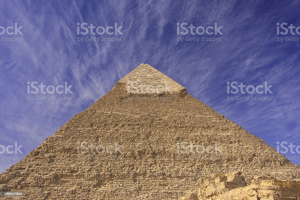 Pyramid of Khafre, Cairo, Egypt royalty-free stock photo