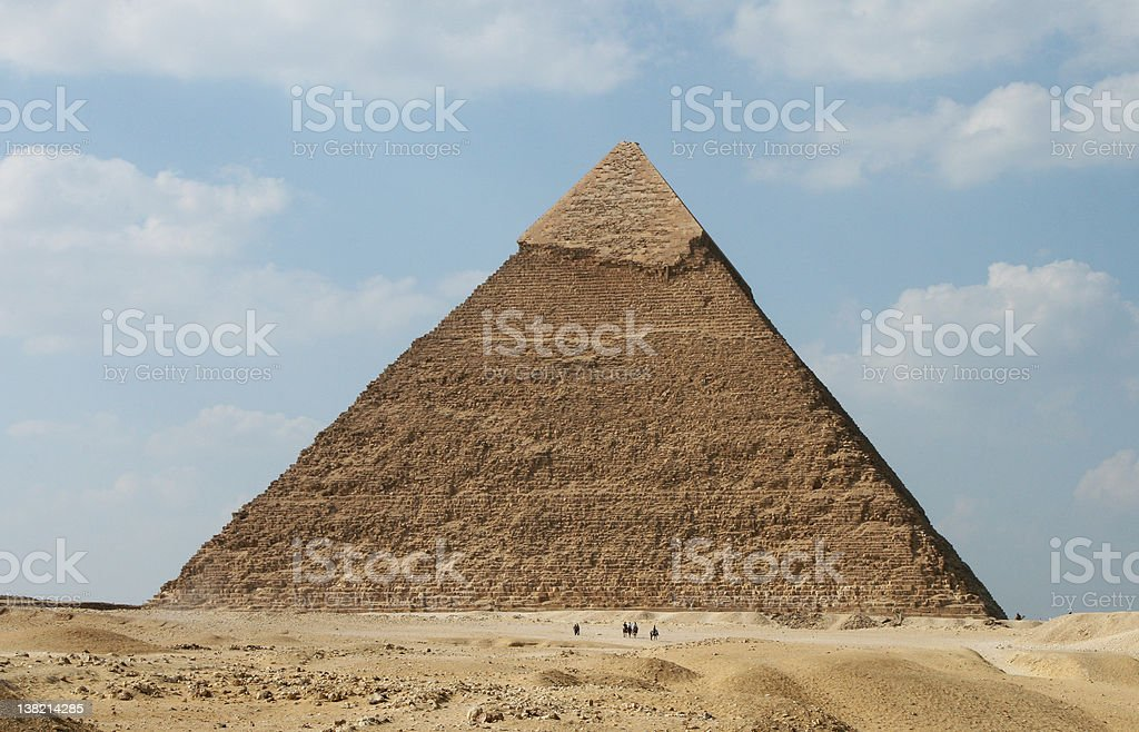 Pyramid of Khafre, Giza, Egypt The second biggest pyramid at Giza. Ancient Stock Photo