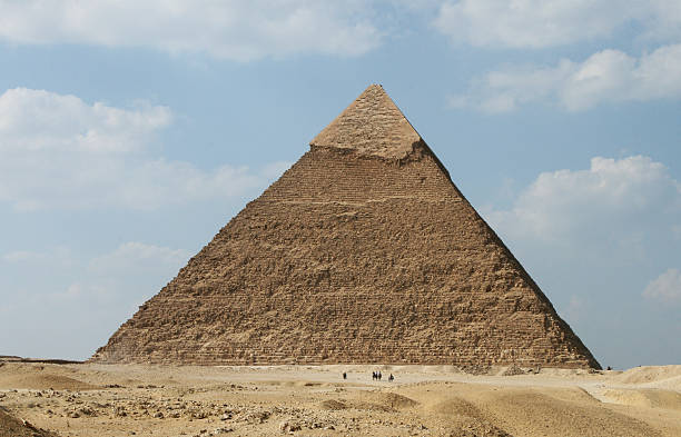 Pyramid of Khafre, Giza, Egypt stock photo