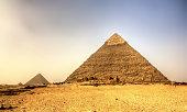 Pyramid of Khafre (Pyramid of Chephren) in Giza - Egypt
