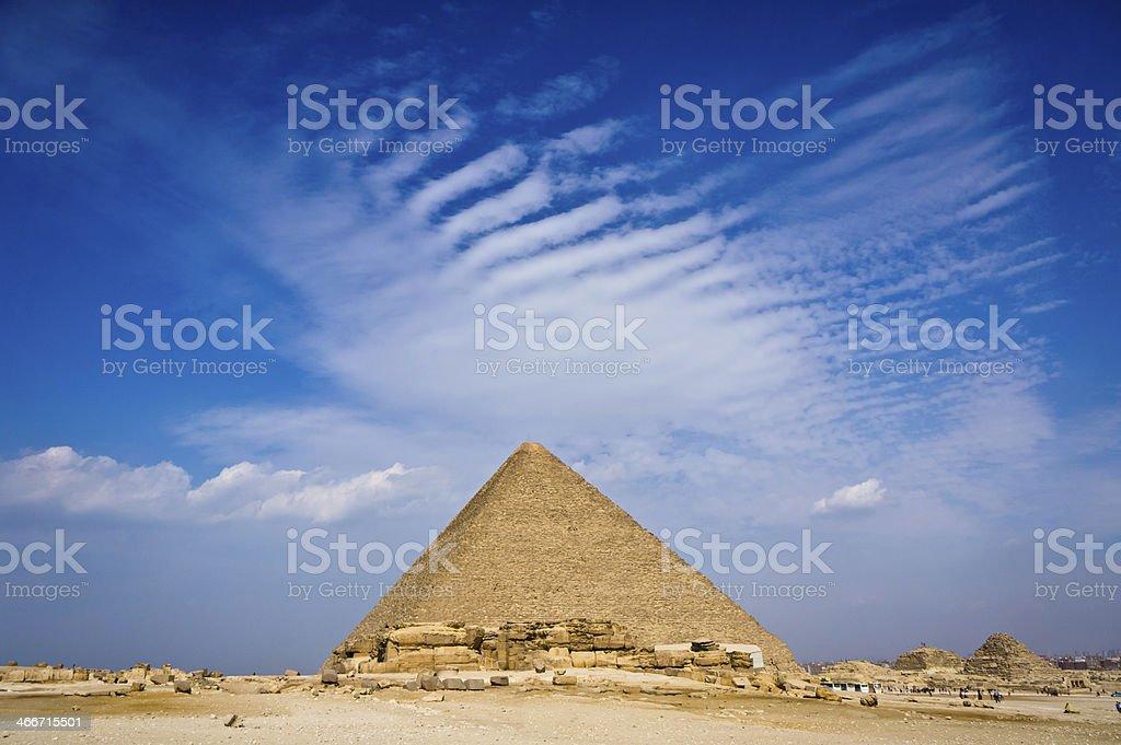 Pyramid of Khafre in Giza, Egypt stock photo