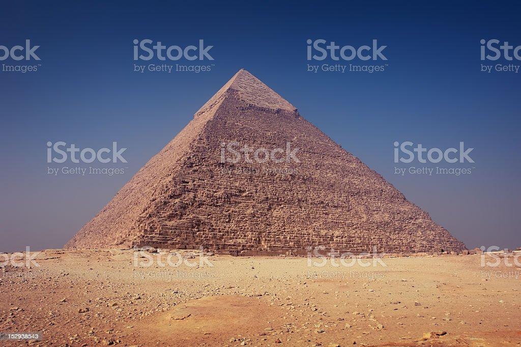 Pyramid Of Khafre (Chephren) royalty-free stock photo