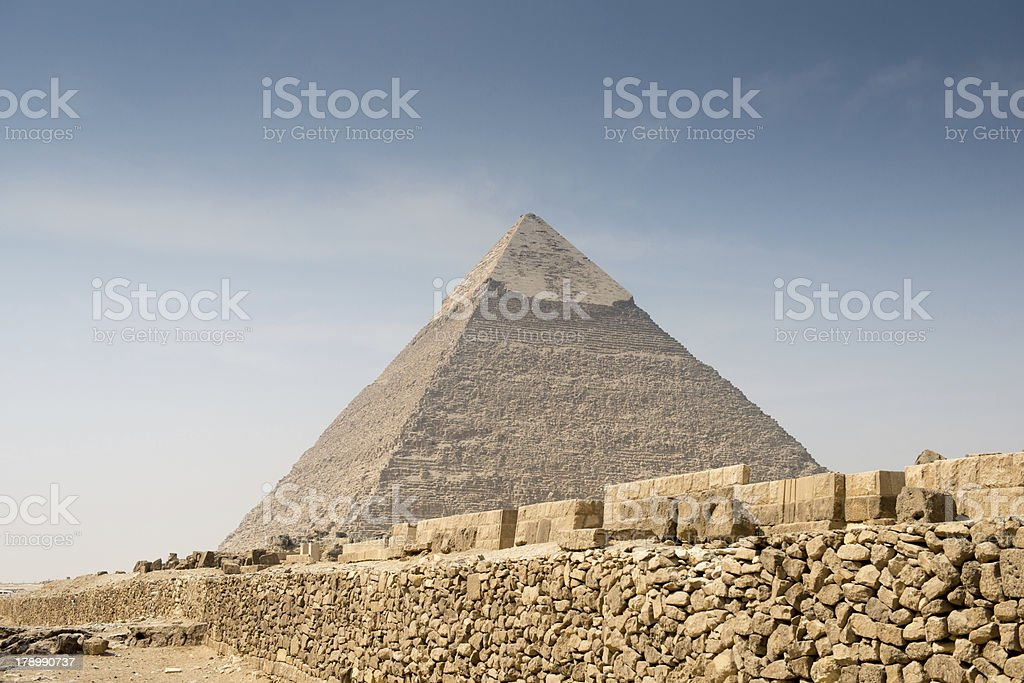 Pyramid of Khafre royalty-free stock photo
