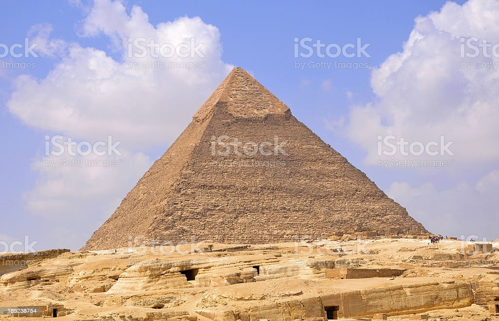 Pyramid of Khafre (Chefren) royalty-free stock photo