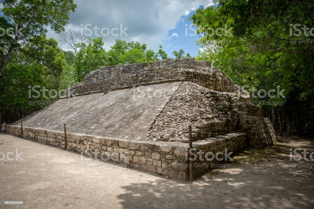 Pyramid of mayan civilization in Mexico royalty-free stock photo