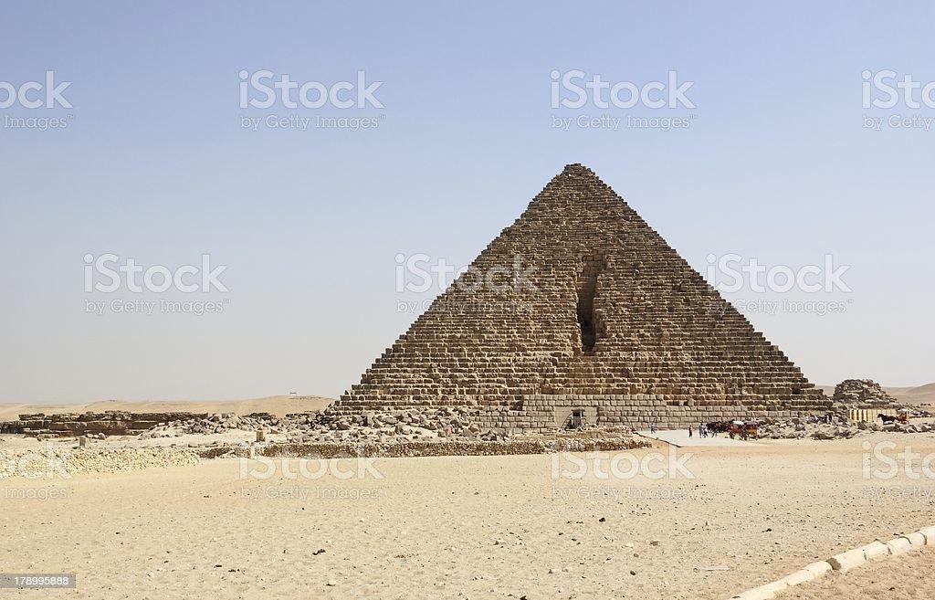 Pyramid of Menkaure, Cairo. stock photo