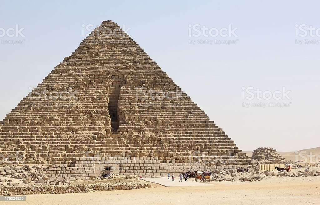 Pyramid of Menkaure, Cairo. royalty-free stock photo