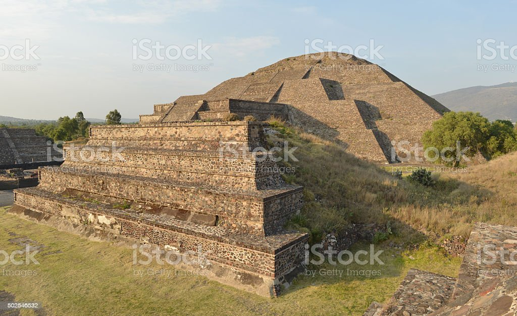 Pyramid of Moon, Teotihuacan, Mexico stock photo
