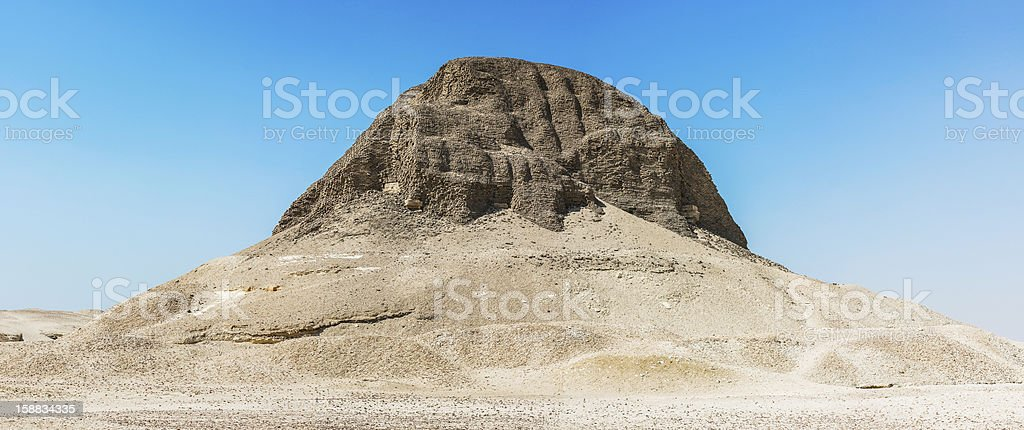 Pyramid of Senusret II royalty-free stock photo