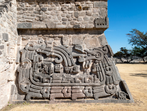Pyramid of the Feathered Serpent, Xochicalco, Mexico