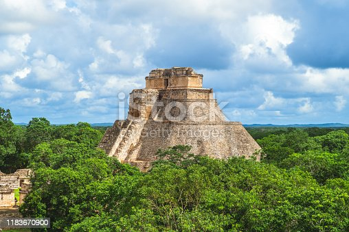 Pyramid of the Magician, uxmal, mexico