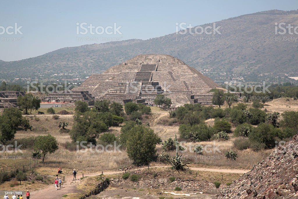 Pyramid of the moon at Teotihuacan, Mexico royalty-free stock photo