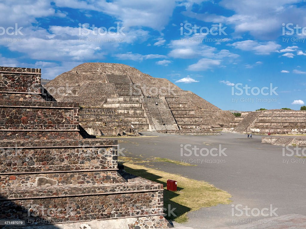 Pyramid of the Moon in Teotihuacan Mexico stock photo