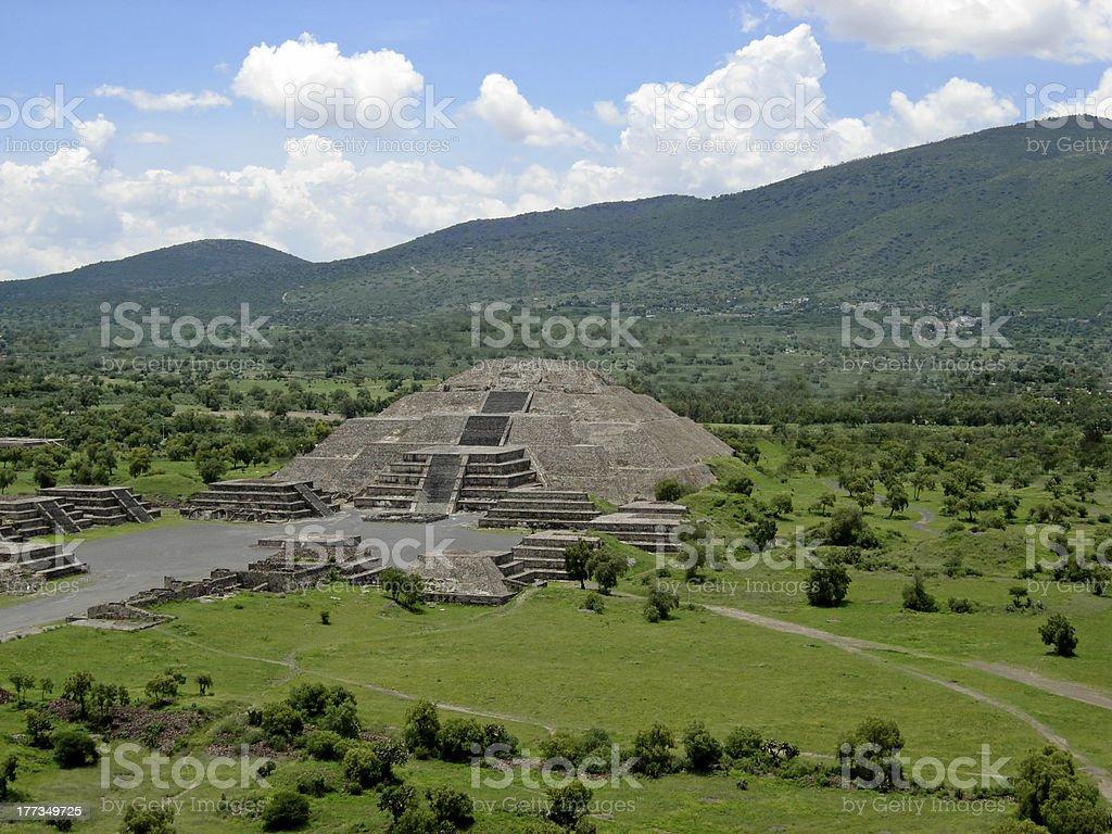Pyramid of the moon stock photo