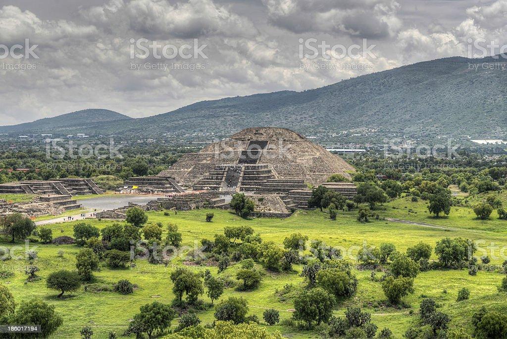 Pyramid of the Moon, Teotihucan stock photo