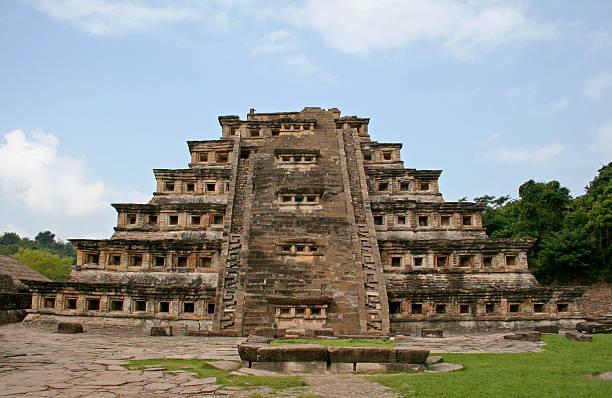 Pyramid of the Niches in El Tajin stock photo