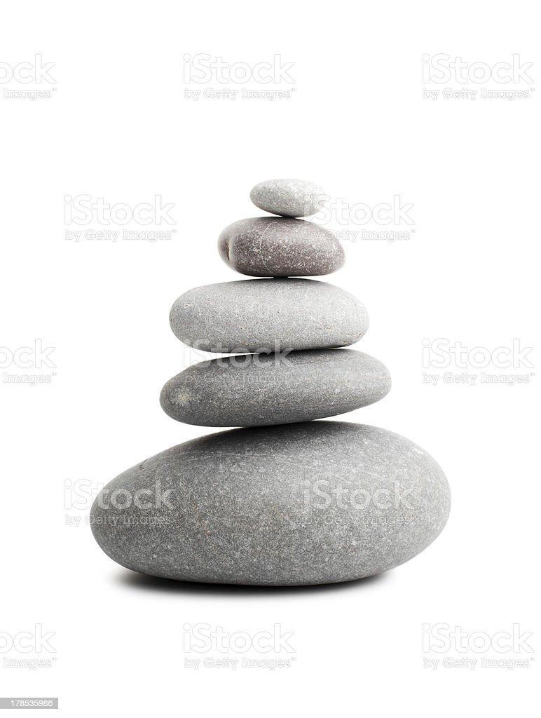 Pyramid of the stones royalty-free stock photo