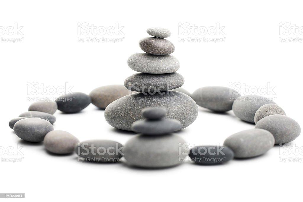 Pyramid of the stones stock photo