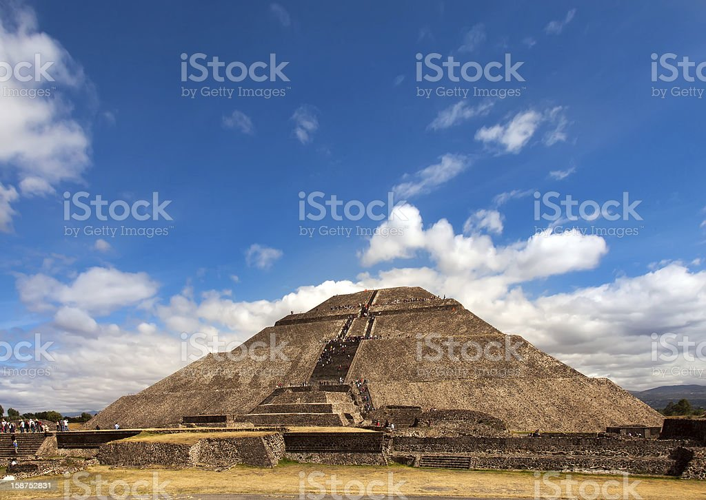 Pyramid of the Sun in Teotihuacan, Mexico. stock photo