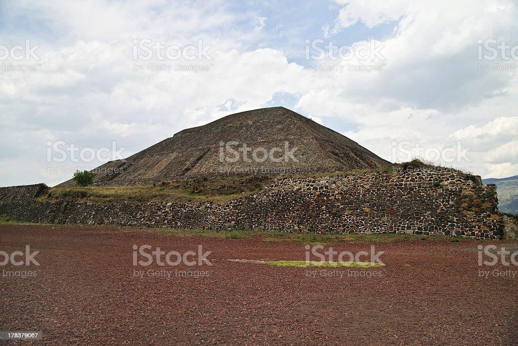 Pyramid of the Sun royalty-free stock photo