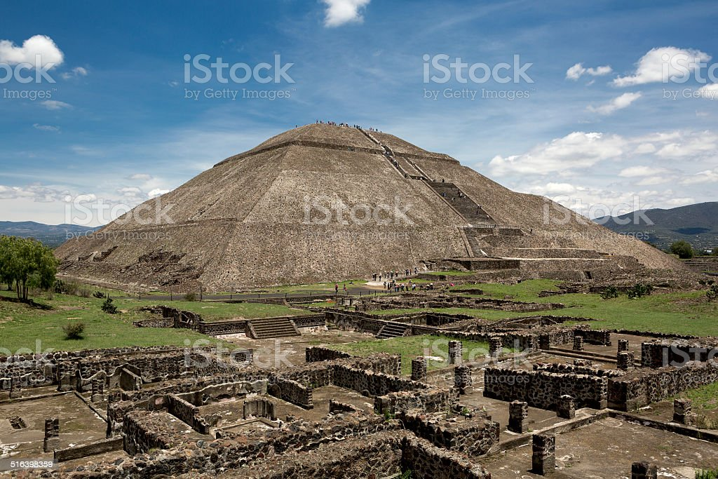 pyramid of the Sun stock photo
