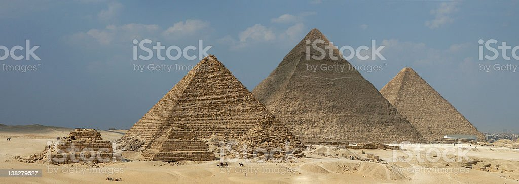 Pyramid Panorama royalty-free stock photo