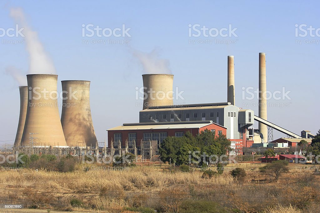 Pyramid Power Station, South Africa stock photo