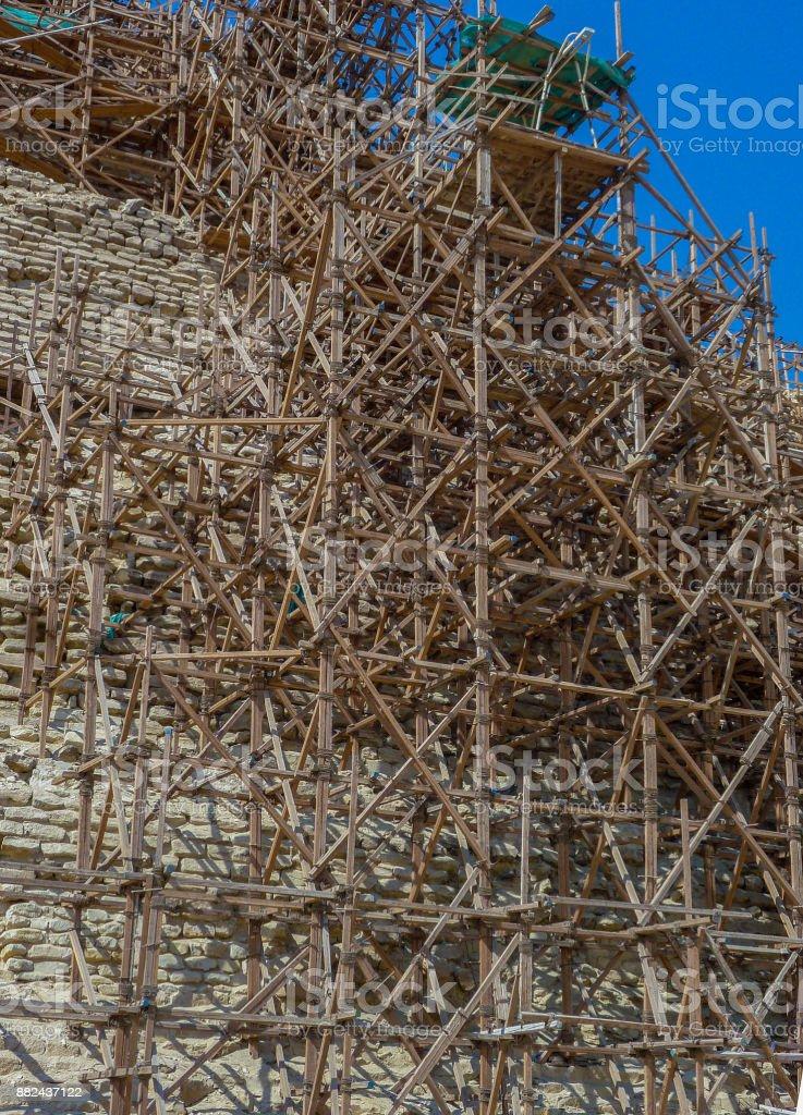 Pyramid Scaffolding stock photo