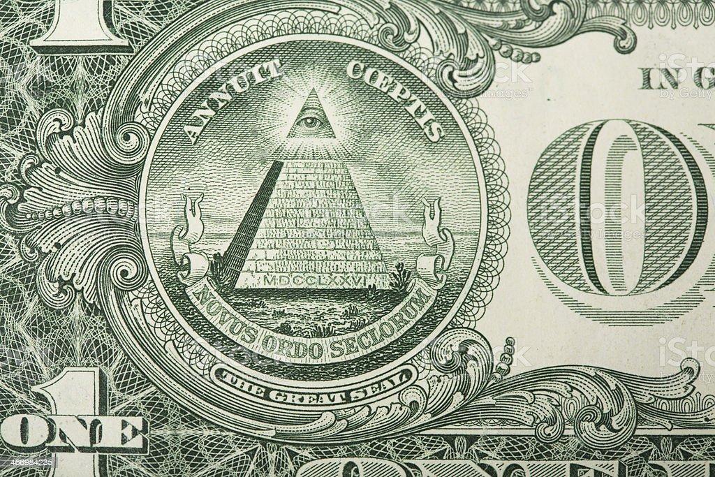 Pirámide Junta En La Us Dollar Bill Foto de stock y más banco de imágenes  de Billete de banco - iStock