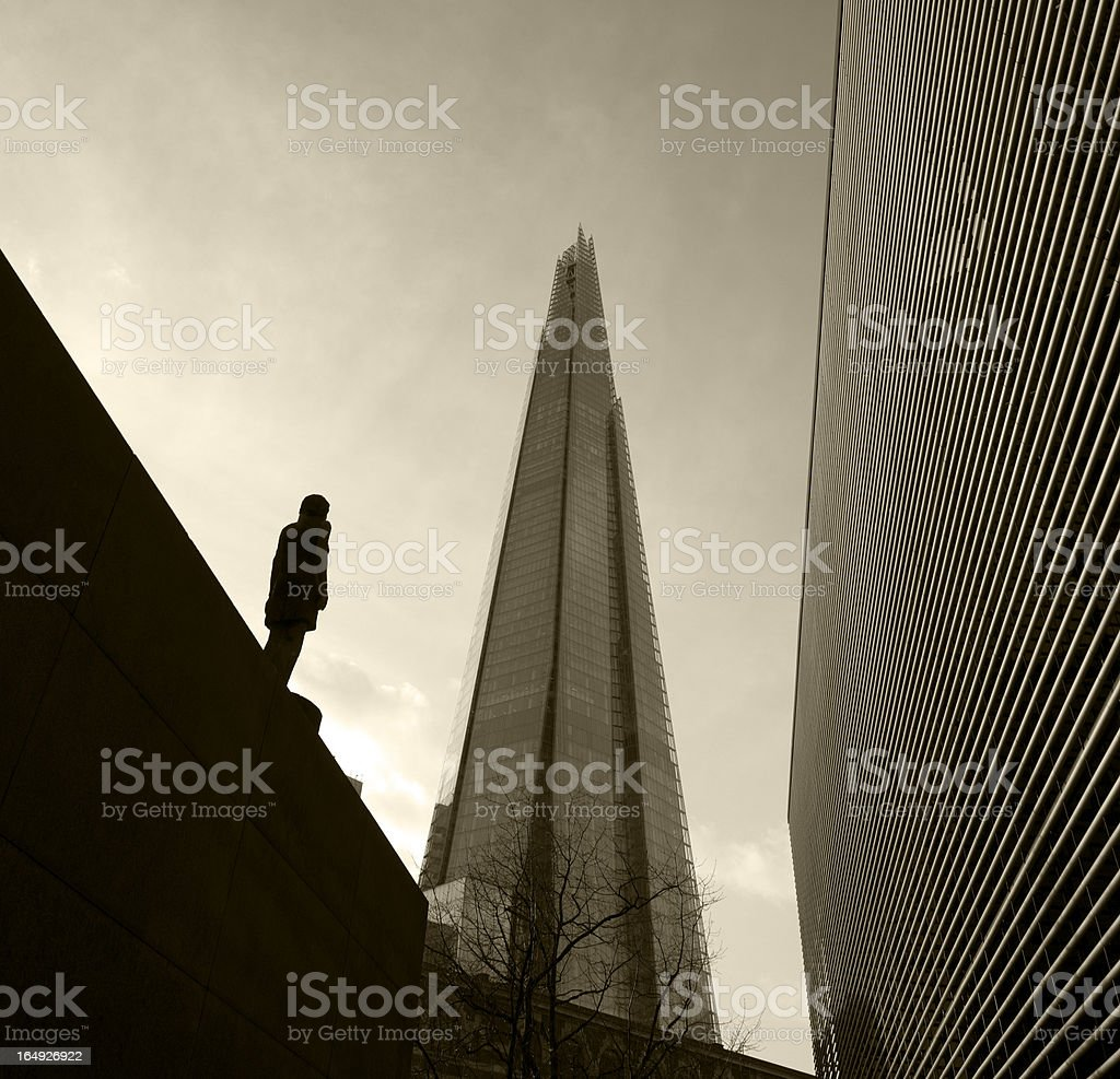 Pyramid shape glass building in London royalty-free stock photo