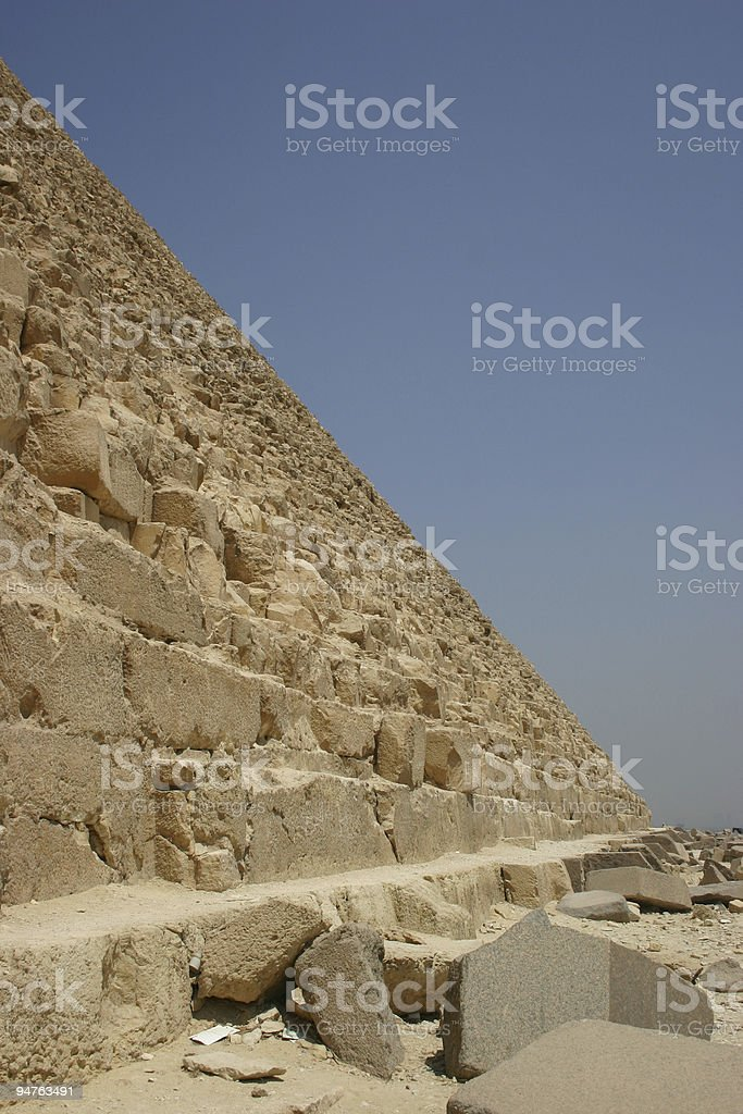 Pyramid sideview royalty-free stock photo